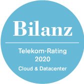 Nr. 1 in Cloud und Datacenter im Bilanz Telekom-Rating